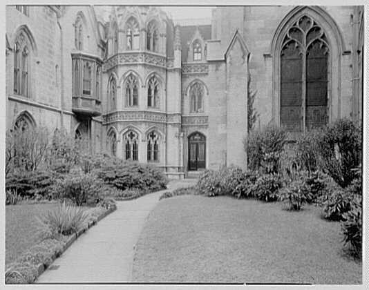 Grace Church, 9th and Broadway, New York City. North garden II