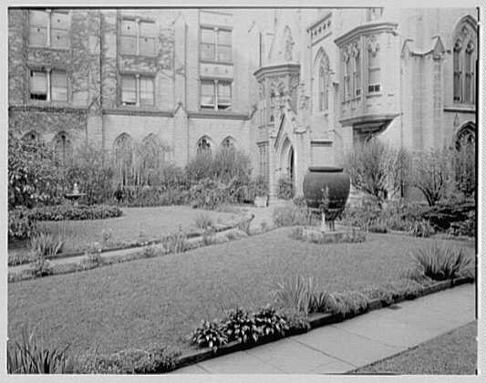 Grace Church, 9th and Broadway, New York City. North garden III
