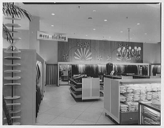 Burdine's department store, business in 163rd St. Shopping Center, Miami, Florida. Men's clothes