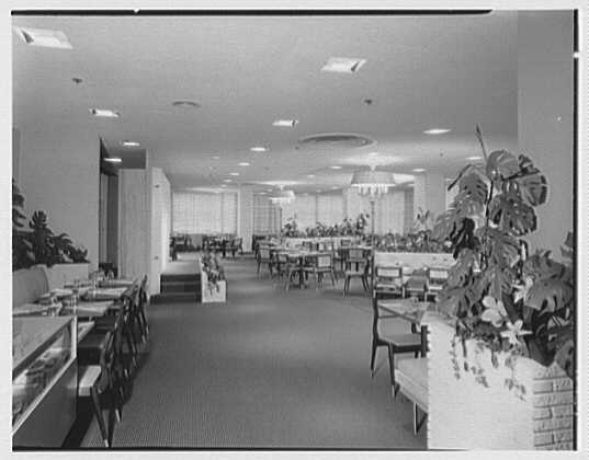 Burdine's department store, business in 163rd St. Shopping Center, Miami, Florida. Tearoom I