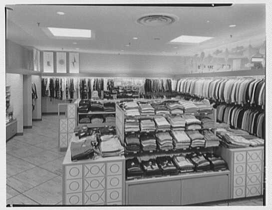 Burdine's department store, business in 163rd St. Shopping Center, Miami, Florida. Boys' clothing
