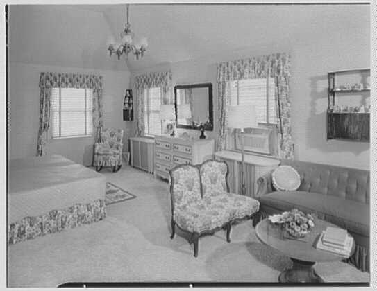 Mr. and Mrs. V. Theo. Low, residence on Hickory Kingdom Rd., Bedford Village, New York. Master bedroom I