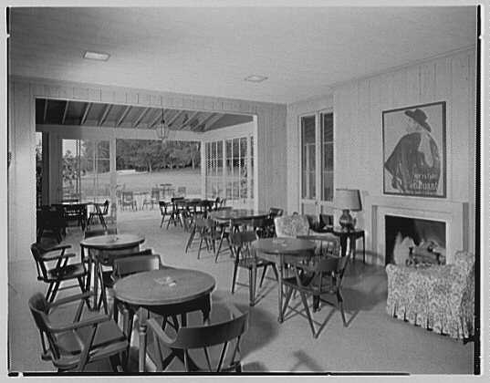 Jupiter Golf Clubhouse, Hobe Sound, Florida. Interior, to course