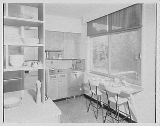 Mr. and Mrs. Frederick M. Warburg, residence in Stamford, Connecticut. Kitchen detail