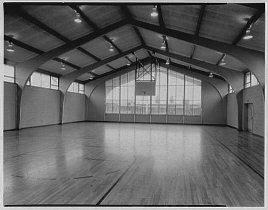 John J. Shaugnessy School, Lowell, Massachusetts. Gym, no children
