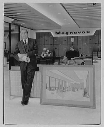 Magnavox, business at Madison Ave. and 48th St., New York City. Leonard Haber