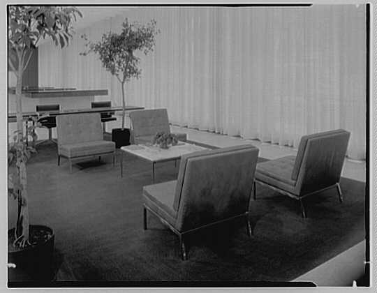 Hanover Bank, 350 Park Ave., New York City. Leather furniture group I