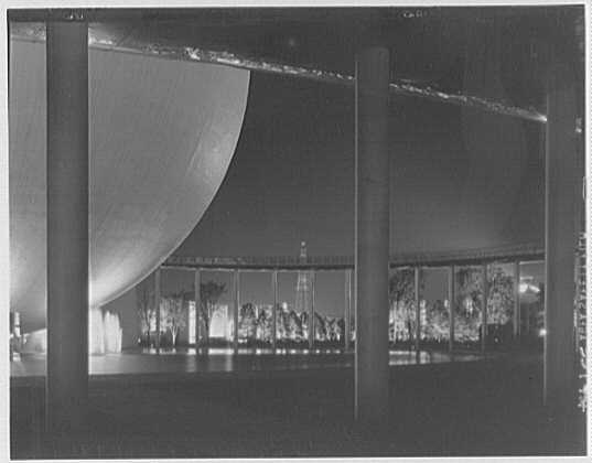 World's Fair night views. Perisphere and ramp I