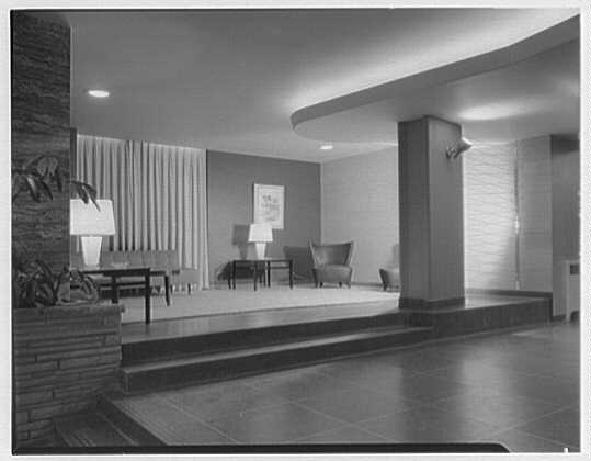 Sussex Apartments, 166-05 Highland Ave., Jamaica, New York. Left reception room
