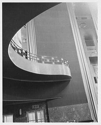 International Music Hall, Radio City, New York. Balcony I, up shot