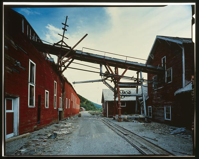 147.  LINES FROM CONCENTRATION MILL TO LEACHING PLANT, LOOKING SOUTH - Kennecott Copper Corporation, On Copper River & Northwestern Railroad, Kennicott, Valdez-Cordova Census Area, AK