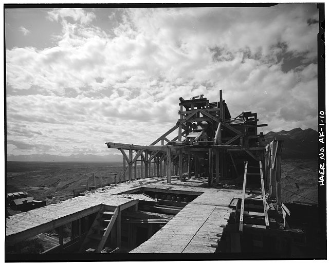 10.  CONCENTRATION MILL, FRAMING, LOOKING SOUTHWEST - Kennecott Copper Corporation, On Copper River & Northwestern Railroad, Kennicott, Valdez-Cordova Census Area, AK