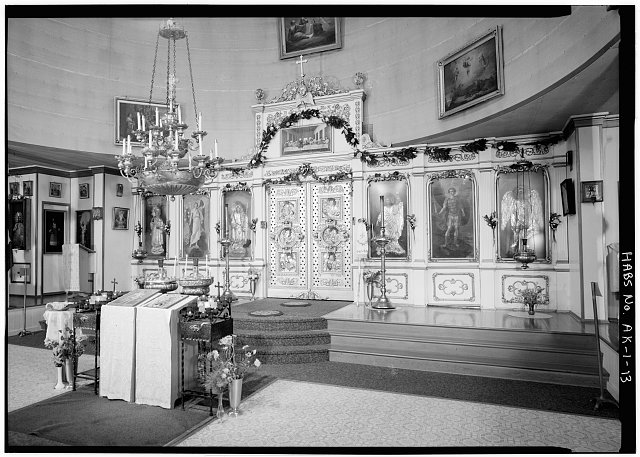 13.  INTERIOR, NAVE, ICONOSTAS, LOOKING NORTHEAST - Saint Michael's Cathedral, Lincoln Street, Sitka, Sitka Borough, AK