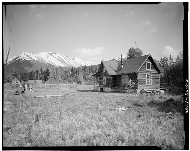 6.  CRAWFORD HOUSE (HATCH HOUSE, HUEY HOUSE), NORTH AND EAST SIDES - Village of Hope, Hope, Kenai Peninsula Borough, AK