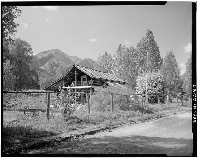 7.  PASSWATER-CARTER HOUSE (CARSON CABIN, ANDERSON HOUSE, BUILT 1896), SOUTH AND EAST SIDES - Village of Hope, Hope, Kenai Peninsula Borough, AK