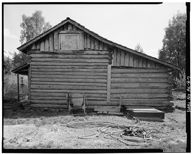 9.  PASSWATER-CARTER HOUSE (CARSON CABIN, ANDERSON HOUSE), NORTH SIDE - Village of Hope, Hope, Kenai Peninsula Borough, AK