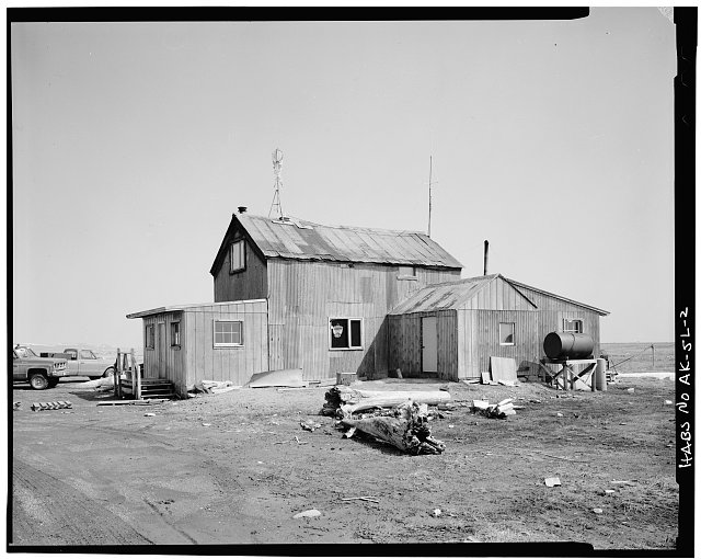 2.  FRONT AND SIDE - Iditarod Trail Shelter Cabins, Safety Roadhouse, Port Safety, Nome Census Area, AK