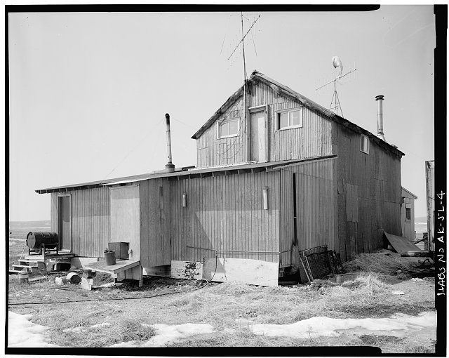 4.  REAR AND SIDE - Iditarod Trail Shelter Cabins, Safety Roadhouse, Port Safety, Nome Census Area, AK