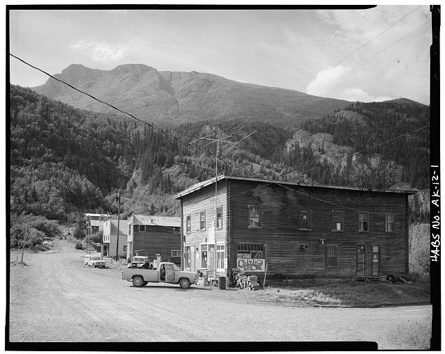 1.  MAIN STREET, LOOKING WEST - Town of Chitina, Chitina, Valdez-Cordova Census Area, AK
