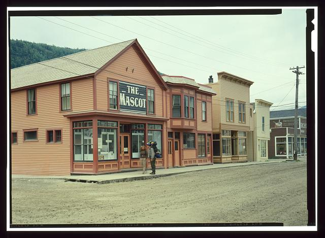 FACADE OF MASCOT SALOON (1898), BROADWAY AVENUE - City of Skagway, Skagway, Skagway-Hoonah-Angoon Census Area, AK
