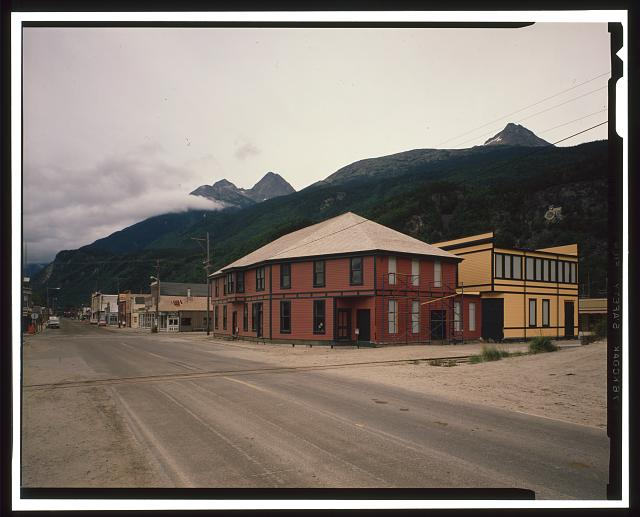 RAILROAD BUILDING AND DEPOT, REAR VIEW - City of Skagway, Skagway, Skagway-Hoonah-Angoon Census Area, AK