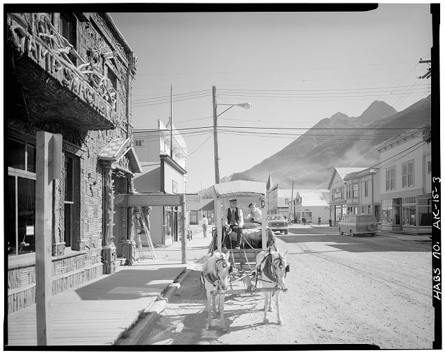 3.  BROADWAY AVENUE FROM NEAR SECOND AVENUE, LOOKING NORTHEAST - City of Skagway, Skagway, Skagway-Hoonah-Angoon Census Area, AK