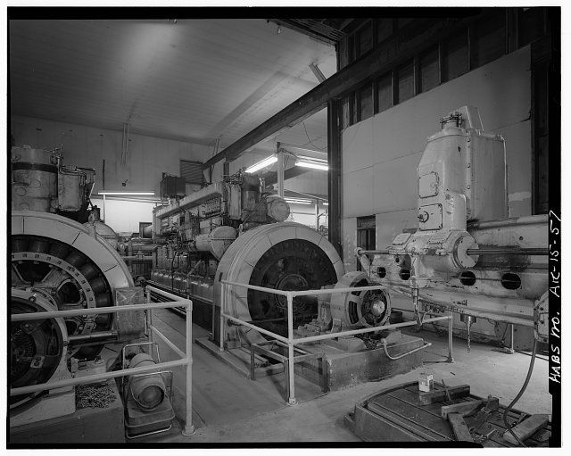 57.  ALASKA POWER AND LIGHT PLANT (1904), INTERIOR, DIESEL GENERATOR (1906) - City of Skagway, Skagway, Skagway-Hoonah-Angoon Census Area, AK