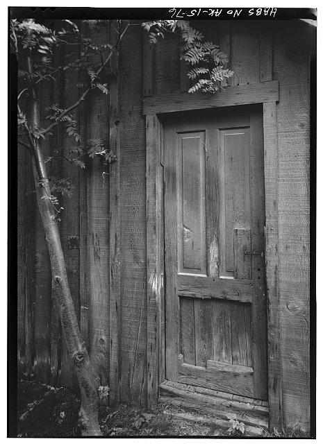 76.  DETAIL OF DOOR TO SHED ON MOORE LOT - City of Skagway, Skagway, Skagway, AK