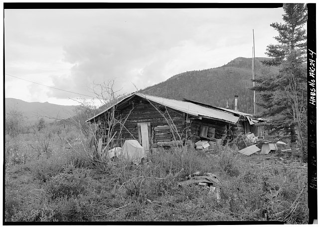 4.  REAR, LOOKING WEST - Postlethwaite-Jones Cabin, Nolan, on Smith Creek, Bettles, Yukon-Koyukuk Census Area, AK
