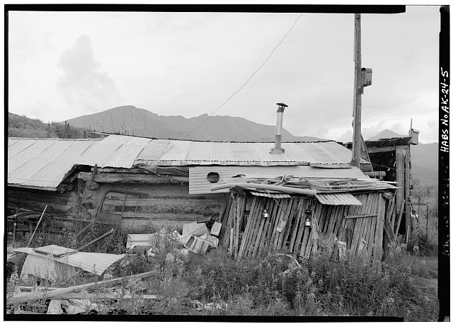 5.  NORTH SIDE, LOOKING SOUTH - Postlethwaite-Jones Cabin, Nolan, on Smith Creek, Bettles, Yukon-Koyukuk Census Area, AK