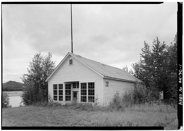 1.  FRONT CORNER, LOOKING SOUTHEAST - Taylor Building, B Street, Eagle, Southeast Fairbanks Census Area, AK