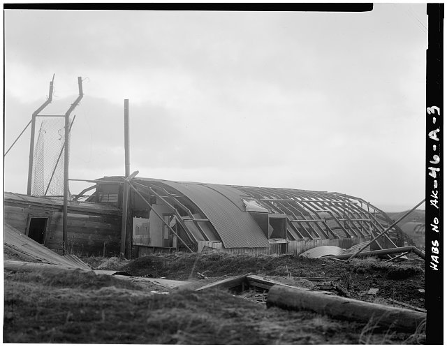3.  PSYCHIATRIC WARD IN 24' X 60' QUONSET HUT, VIEW OF SOUTH FACE - Fort Randall, Neuro-Psychiatric Ward, Northeast of intersection of California Boulevard & Nurse Drive, Cold Bay, Aleutian Islands, AK