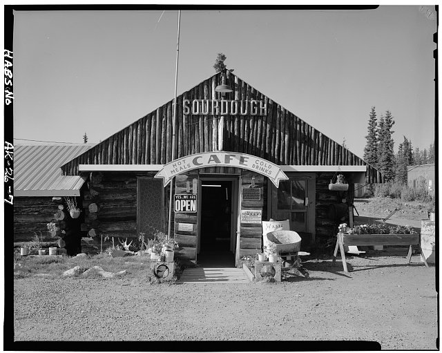 7.  DETAIL OF ENTRANCE - Sourdough Lodge, Mile 147.5, Richardson Highway, Gakona, Valdez-Cordova Census Area, AK
