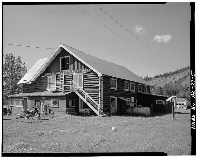5.  NORTHEAST CORNER - Gakona Lodge & Trading Post, Mile 205, Glenn Highway, Gakona, Valdez-Cordova Census Area, AK