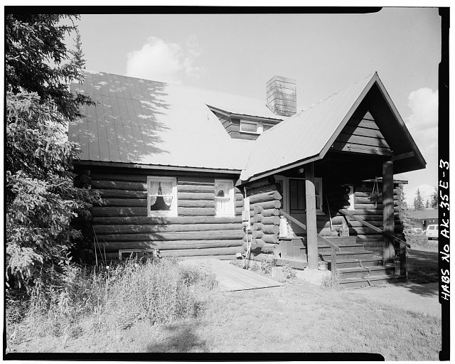 3.  REAR, LOOKING NORTH - Mount McKinley Headquarters, Superintendent's Residence, Cantwell, Denali Borough, AK