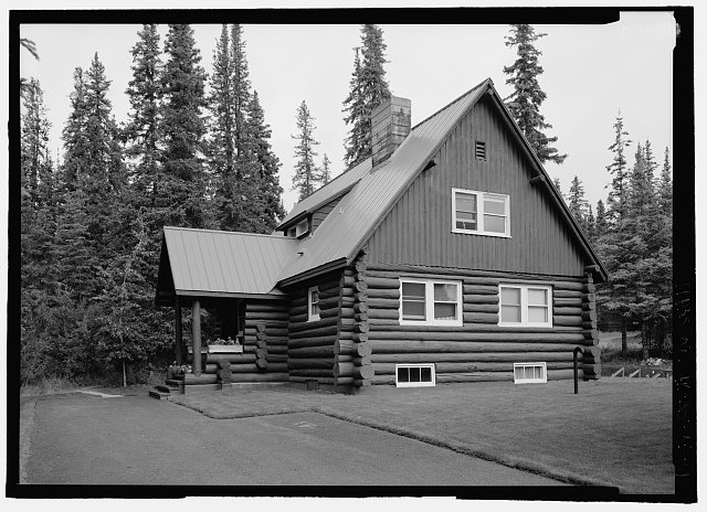 302 degrees northwest oblique (back) of superintendents house - Mount McKinley Headquarters, Superintendent's Residence, Cantwell, Denali Borough, AK