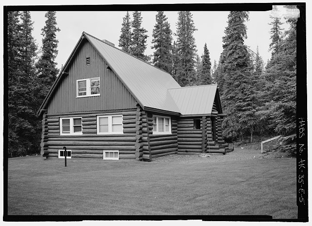 Front of superintendents house, 243 degrees southwest - Mount McKinley Headquarters, Superintendent's Residence, Cantwell, Denali Borough, AK