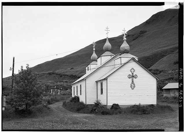 5.  SOUTH AND EAST SIDES - Three Saints Russian Orthodox Church, Kodiak Island, Old Harbor, Kodiak Island Borough, AK