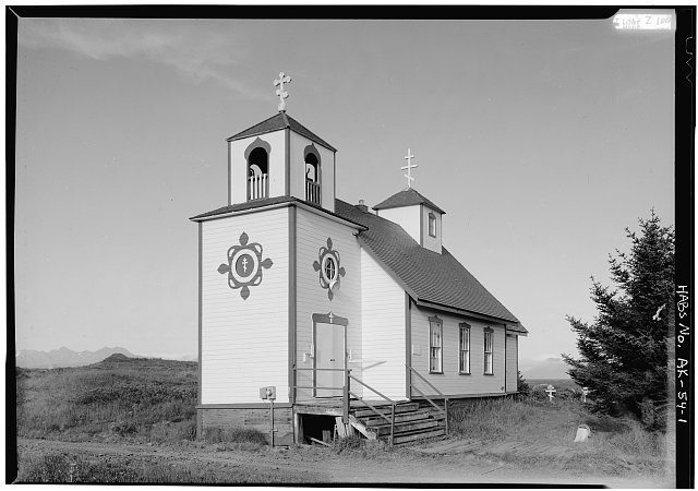 1.  WEST AND NORTH SIDES - Protection of the Holy Thestokos Russian Orthodox Church, Kodiak Island, Akhiok, Kodiak Island Borough, AK