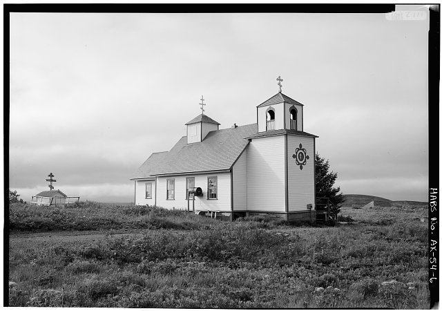 6.  NORTH AND WEST SIDES - Protection of the Holy Thestokos Russian Orthodox Church, Kodiak Island, Akhiok, Kodiak Island Borough, AK