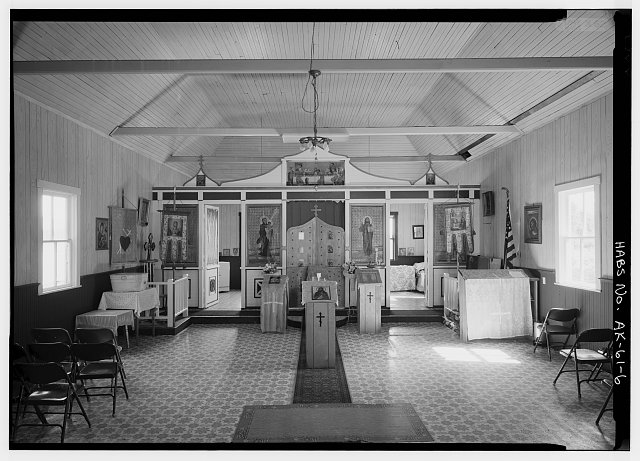 6.  INTERIOR, NAVE, LOOKING EAST - St. John the Baptist Russian Orthodox Church
