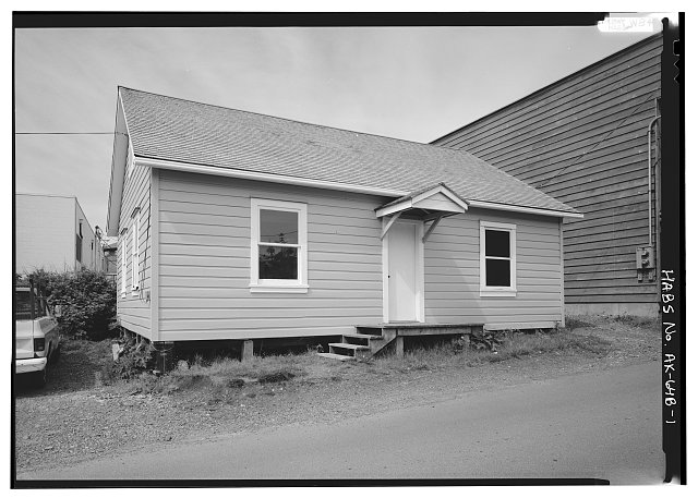1.  EAST FRONT - Russian Bishop's House, Priest's House, Monastery Street, Sitka, Sitka Borough, AK