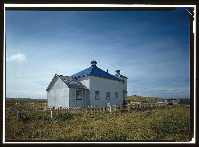 EAST AND NORTH SIDES - St. Nicholas Russian Orthodox Church, Nikolski, Aleutians West Census Area, AK
