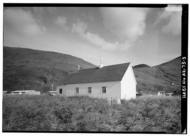 3.  SOUTH AND EAST SIDES - St. Alexander of Nevsky Russian Orthodox Church, Akutan, Aleutians East Borough, AK