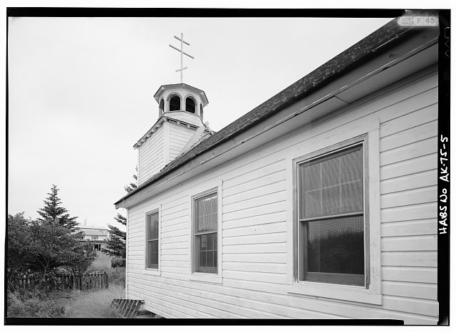 5.  SOUTH SIDE, LOOKING NORTHWEST - St. Nicholas Russian Orthodox Church, Sand Point, Aleutians East Borough, AK