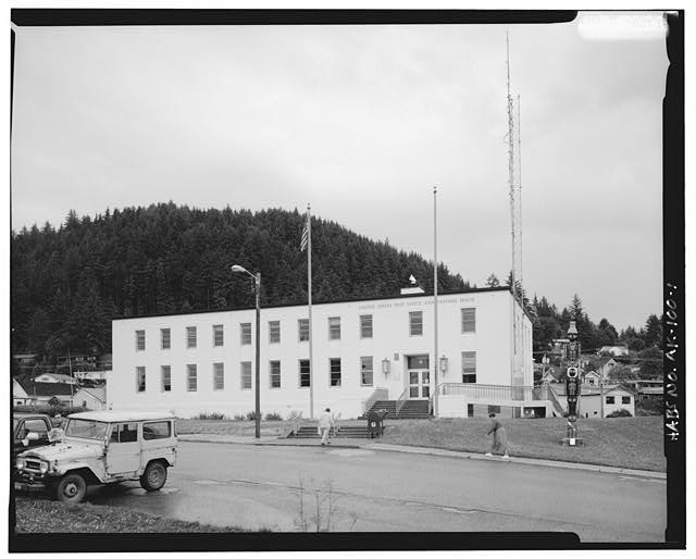 1.  SOUTHWEST FRONT - U.S. Post Office & Customs House, Church Street, Wrangell, Wrangell-Petersburg Census Area, AK