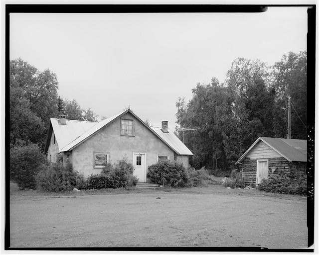 3.  SOUTH FRONT OF HOUSE, WEST FRONT OF WELL HOUSE - Rebarchek Farm, Rebarcheck Road, Palmer, Matanuska-Susitna Borough, AK