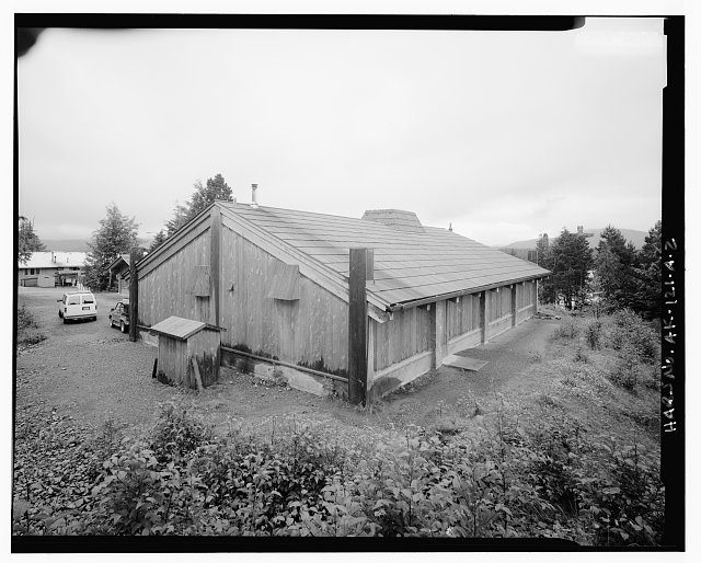 2.  REAR AND SIDE - Totem Park, Tribal House, Saxman, Ketchikan Gateway Borough, AK