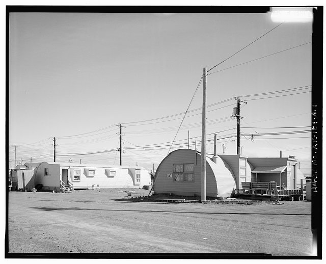 1.  PERSPECTIVE VIEW - Naval Arctic Research Laboratory, Quonset Huts, Approximately 5 miles Northeast of Barrow, Barrow, North Slope Borough, AK