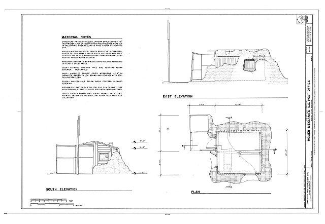 HABS AK-194 (sheet 1 of 2) - Homer Mekiana's U.S. Post Office, 237 Airport Road, Anaktuvuk Pass, North Slope Borough, AK